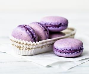 food, macaroons, and purple image
