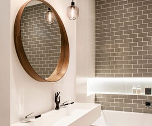 architecture, bathroom, and furniture image