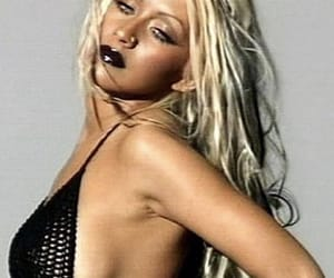 stripped, xtina, and y2k image