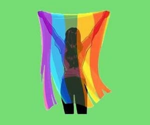 girl, rainbow, and lgbt image