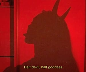 Devil, red, and goddess image