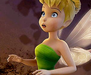 disney, gif, and tinkerbell image