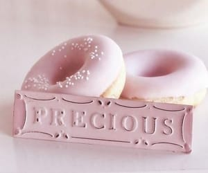 bed, pink, and dessert image