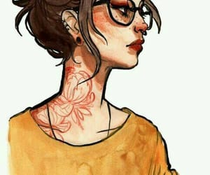 art, girl, and tattoo image