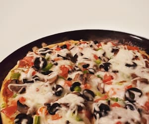 food, pizza, and snap image