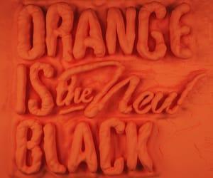 black, orange, and new image