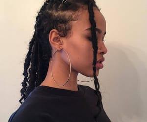 girl, braid, and melanin image