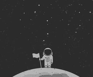 wallpaper, moon, and space image
