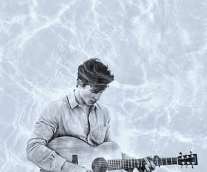 double exposure, edit, and guitar image