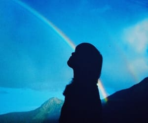 aesthetic, Darkness, and rainbow image