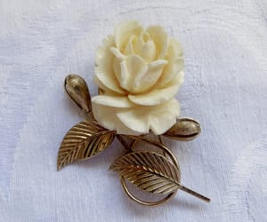 etsy, vintage brooch, and celluloid brooch image