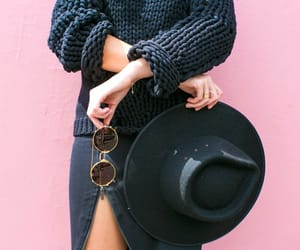 chic, hat, and sunglasses image