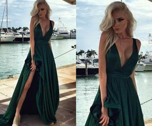 beutiful, green, and blonde image