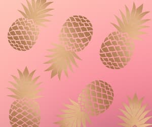 background, pineapple, and wallpaper image