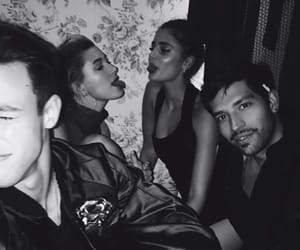 taylor hill, hailey baldwin, and cameron dallas image