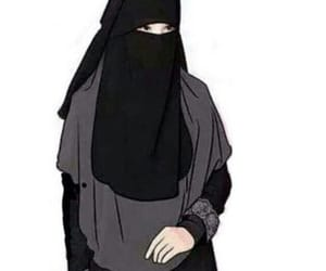 god, heaven, and hijab image