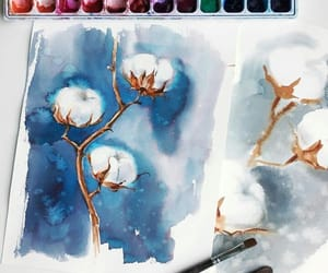 art, blue, and coton image