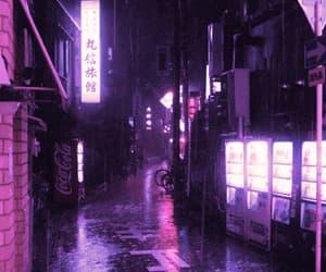 gif, pink, and rain image