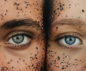 eyes, beach, and beauty image