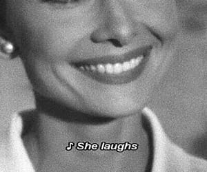 smile, audrey hepburn, and laugh image