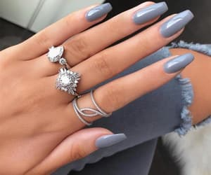 nails, rings, and manicure image