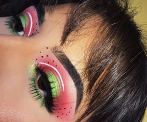 makeup, watermelon, and aesthetic image