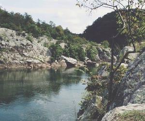 countryside, green, and lake image