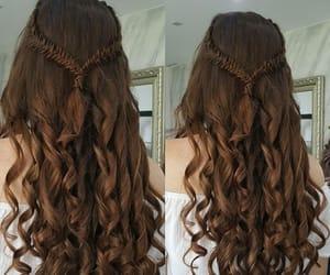 braid, brown, and curls image