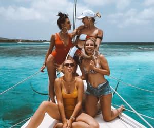 beach, bikini, and boat image