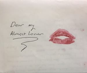 love, kiss, and Letter image