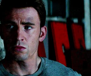 chris evans, gif, and steve rogers image