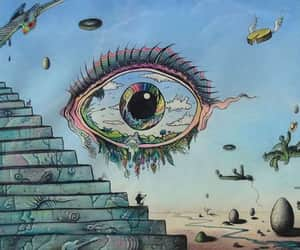 art, psychedelic, and stairs image