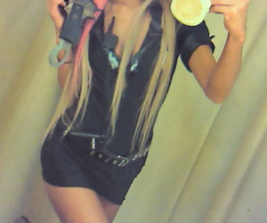 blonde, dyed, and police image