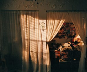 room, vintage, and curtains image