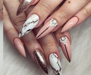 acrylic, marble, and nail art image