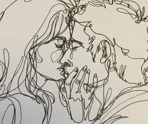 art, kiss, and love image