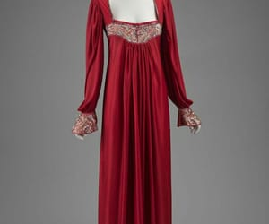 antique, dress, and red image