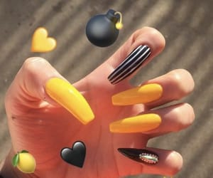 black, nails, and strips image