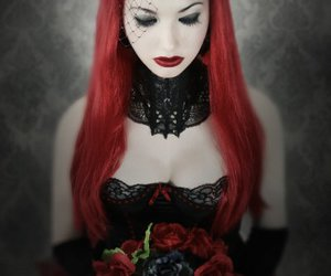 flowers, girls, and goth image
