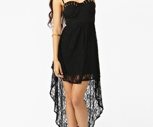 nasty gal, reverse, and black lace dress image