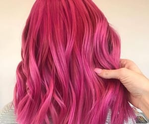 hair style and pink hair image