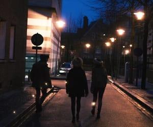 night, friends, and dark image
