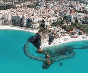 beach, travel, and italy image