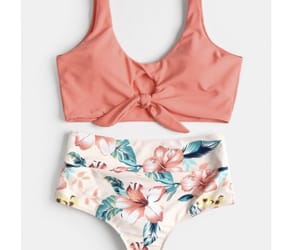 bikini, summer vibes, and flowers image
