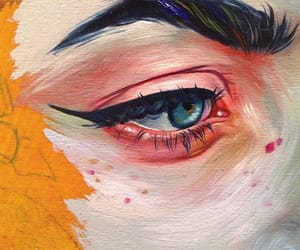 art, painting, and eye image