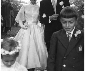 audrey, dress, and wedding image