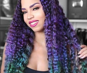 blue, dyed, and hairstyle image