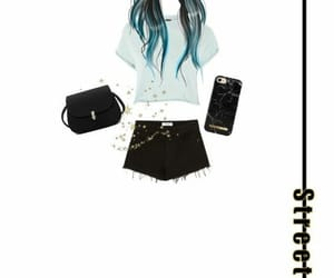 long hair, outfit, and style image