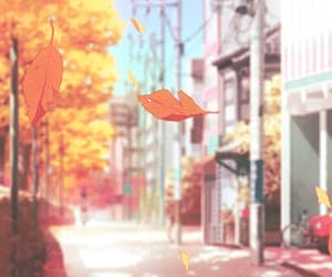 gif, anime, and autumn image