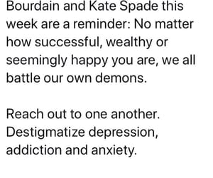 anthony bourdain, kate spade, and suicide image